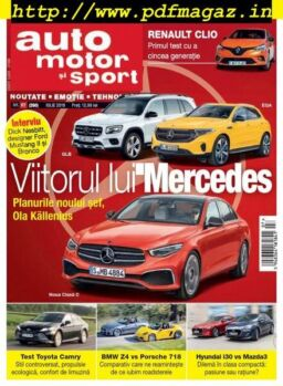 Auto, motor si sport Romania – iulie 2019