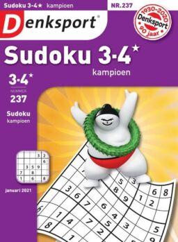 Denksport Sudoku 3-4 kampioen – 31 december 2020