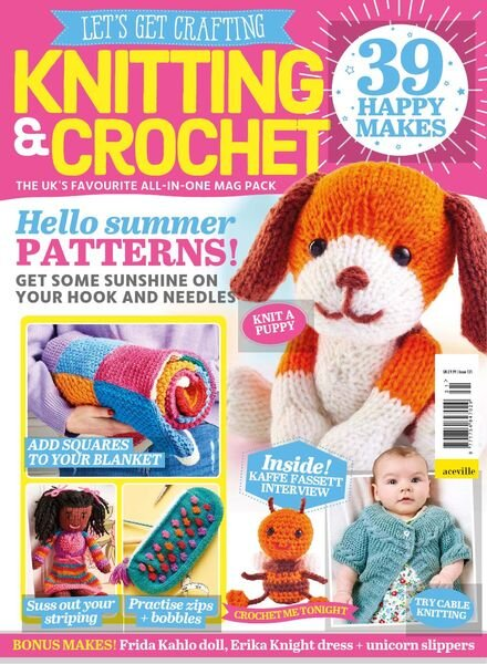 Let's Get Crafting Knitting & Crochet – Issue 131 – May 2021 Cover