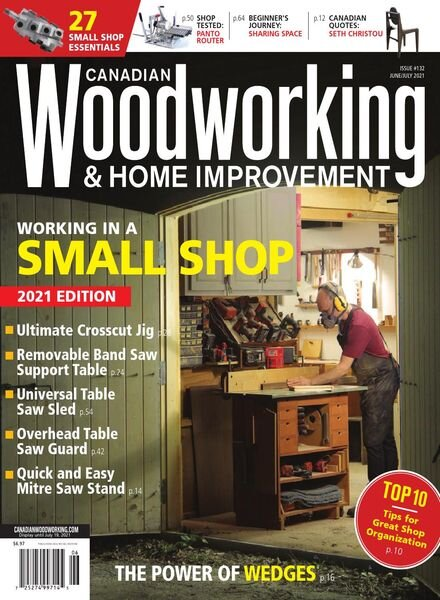 Canadian Woodworking – June July 2021 Cover