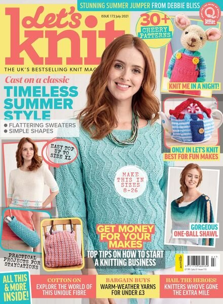Let's Knit – Issue 172 – July 2021 Cover