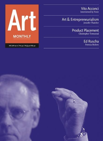 Art Monthly – December-January 2009-10 Cover