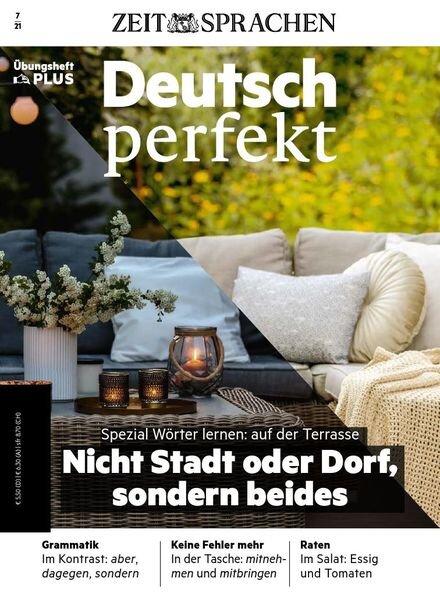 Deutsch perfekt plus – Juli 2021 Cover