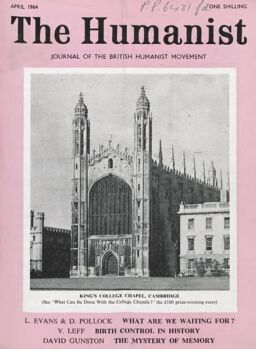 New Humanist – The Humanist, April 1964