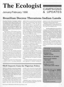 Resurgence & Ecologist – Campaigns & Updates January-February 1996