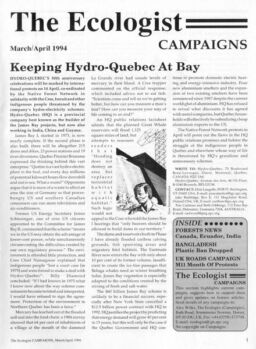 Resurgence & Ecologist – Campaigns March-April 1994
