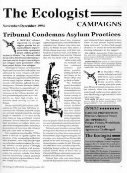 Resurgence & Ecologist – Campaigns Vol 24 N 6 – November-December 1994