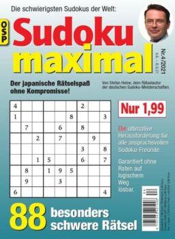 Sudoku Maximal – Nr.4 2021