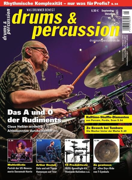 Drums & Percussion – September-Oktober 2021 Cover