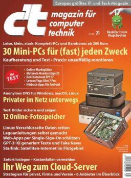c't magazin fur computertechnik – 24 September 2021