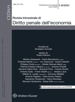 Rivista Trimestrale di Diritto Penale dell'Economia – N.1-2 2021
