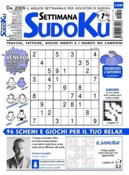 Settimana Sudoku – 15 settembre 2021
