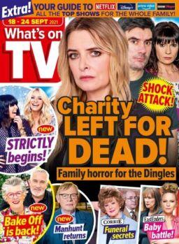 What's on TV – 18 September 2021